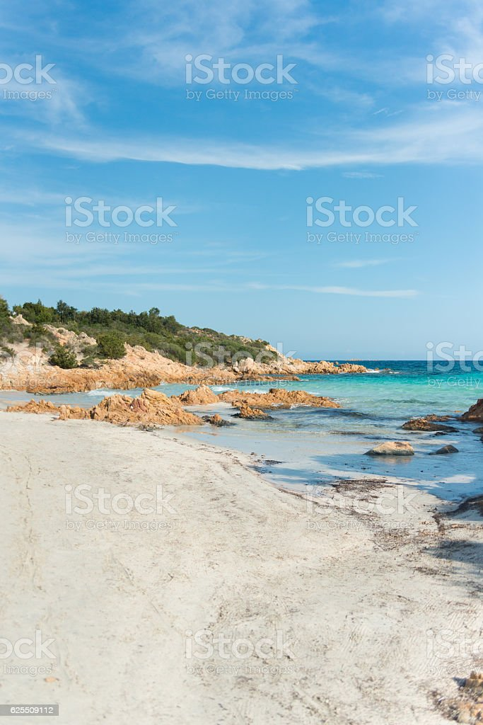 turquoise ocean in Sardinia stock photo