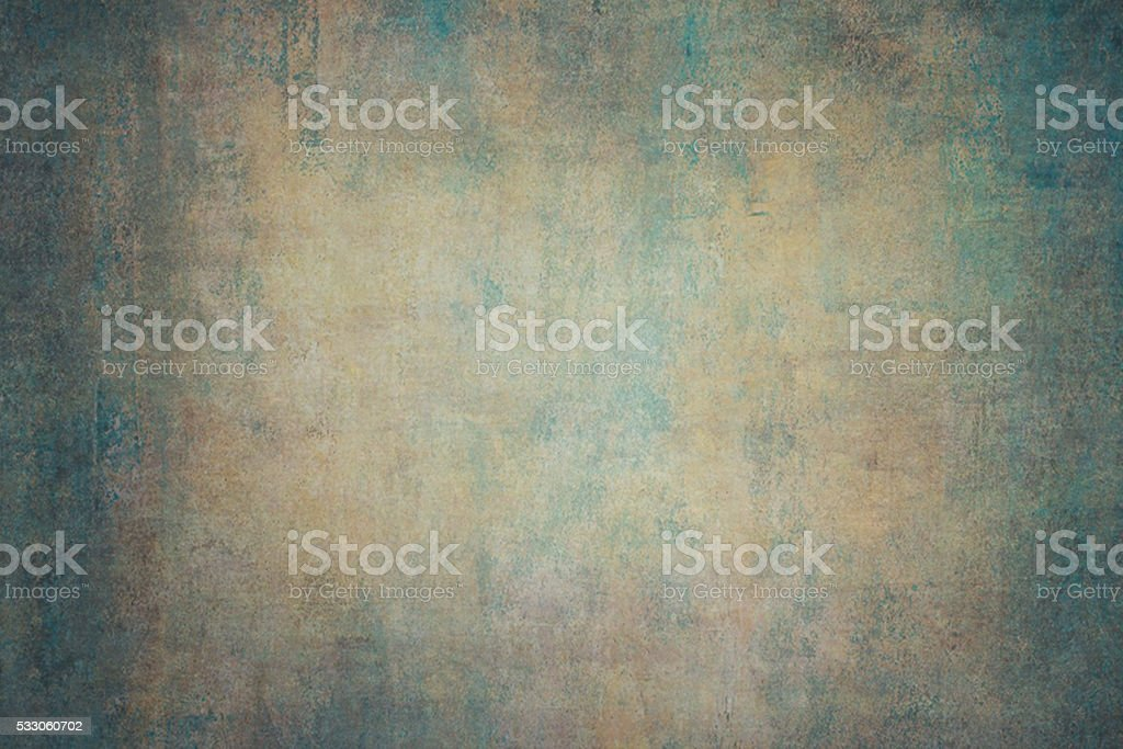 Turquoise orange canvas hand-painted backdrops stock photo