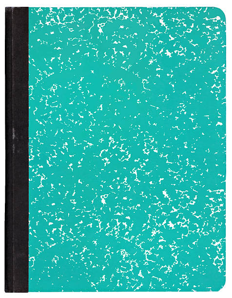 a turquoise patterned composition book - composition stock pictures, royalty-free photos & images