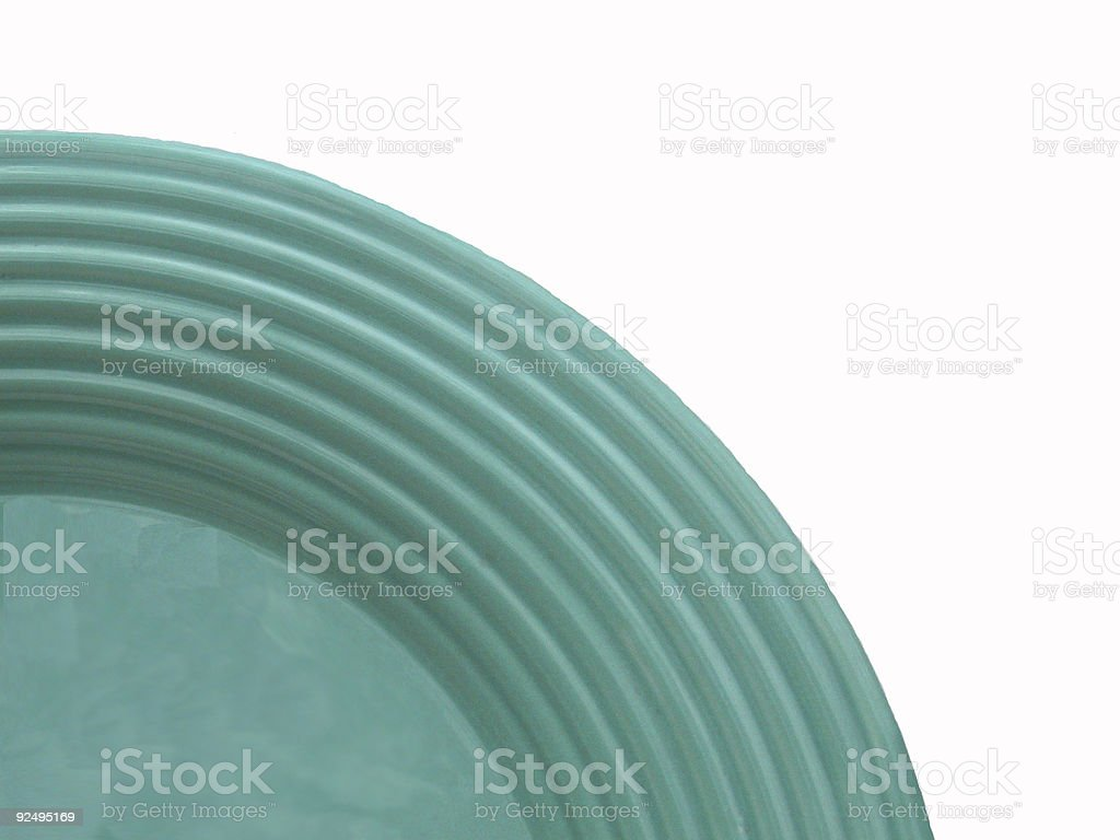 Turquoise Plate royalty-free stock photo