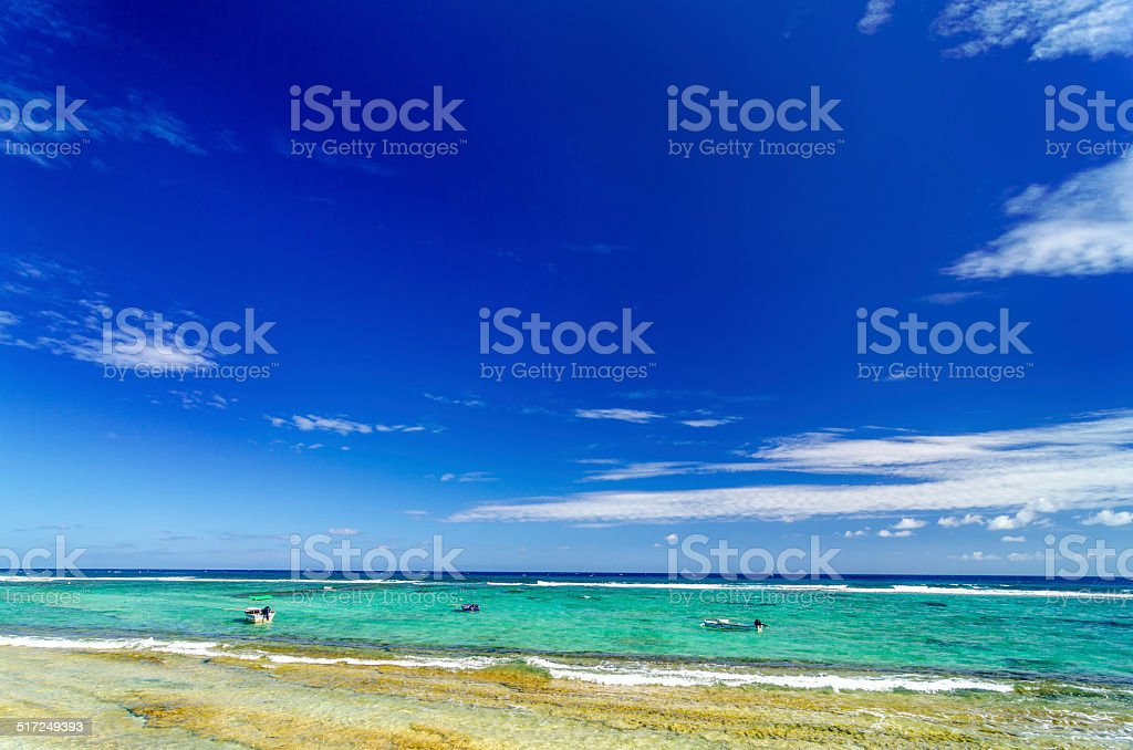 Turquoise Sea and Blue Sky stock photo