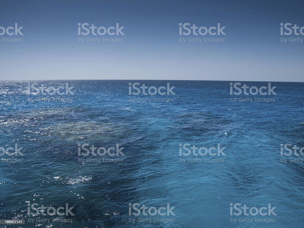 turquoise sea and coral under water royalty-free stock photo