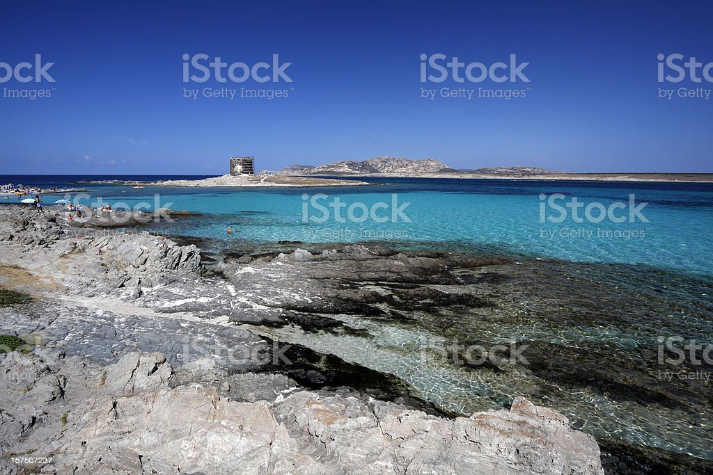 Turquoise sea royalty-free stock photo