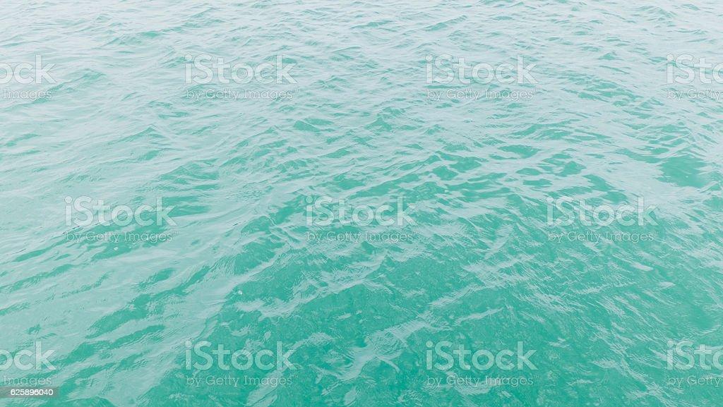 Turquoise sea water stock photo