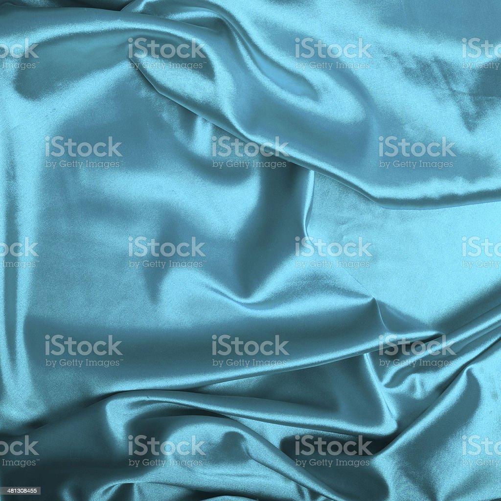 Turquoise silk background royalty-free stock photo