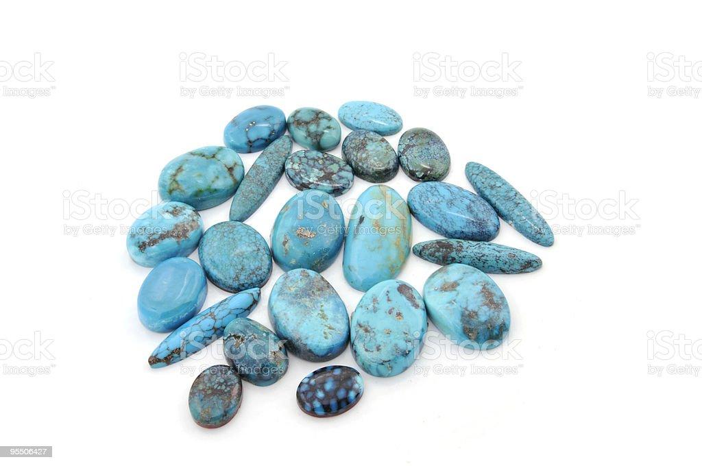 Turquoise Stones royalty-free stock photo