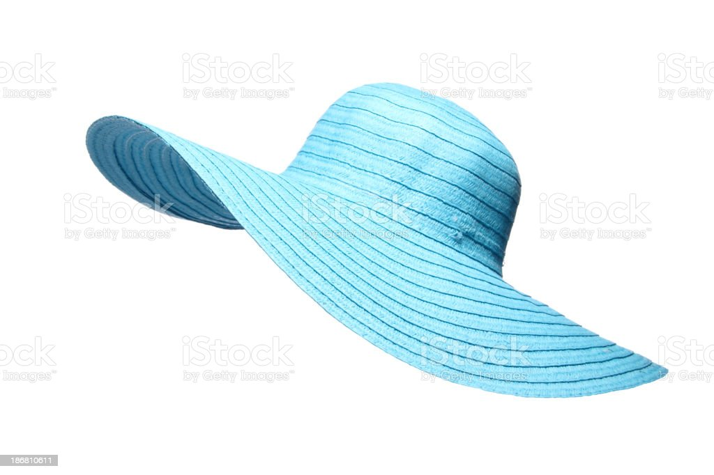 Turquoise Sun Hat royalty-free stock photo
