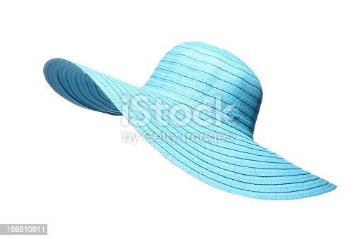 Turquoise sun hat against white backgroundSome other related images: