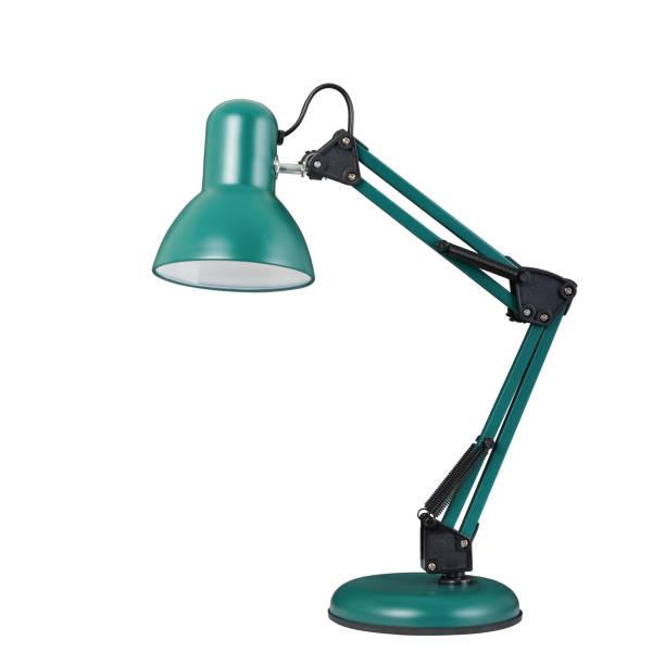 lampe de table turquoise dans un style classique - lampe électrique photos et images de collection