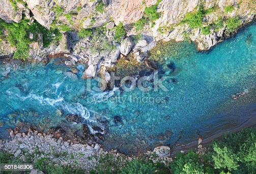 Aerial view of Tara River Canyon, Montenegro