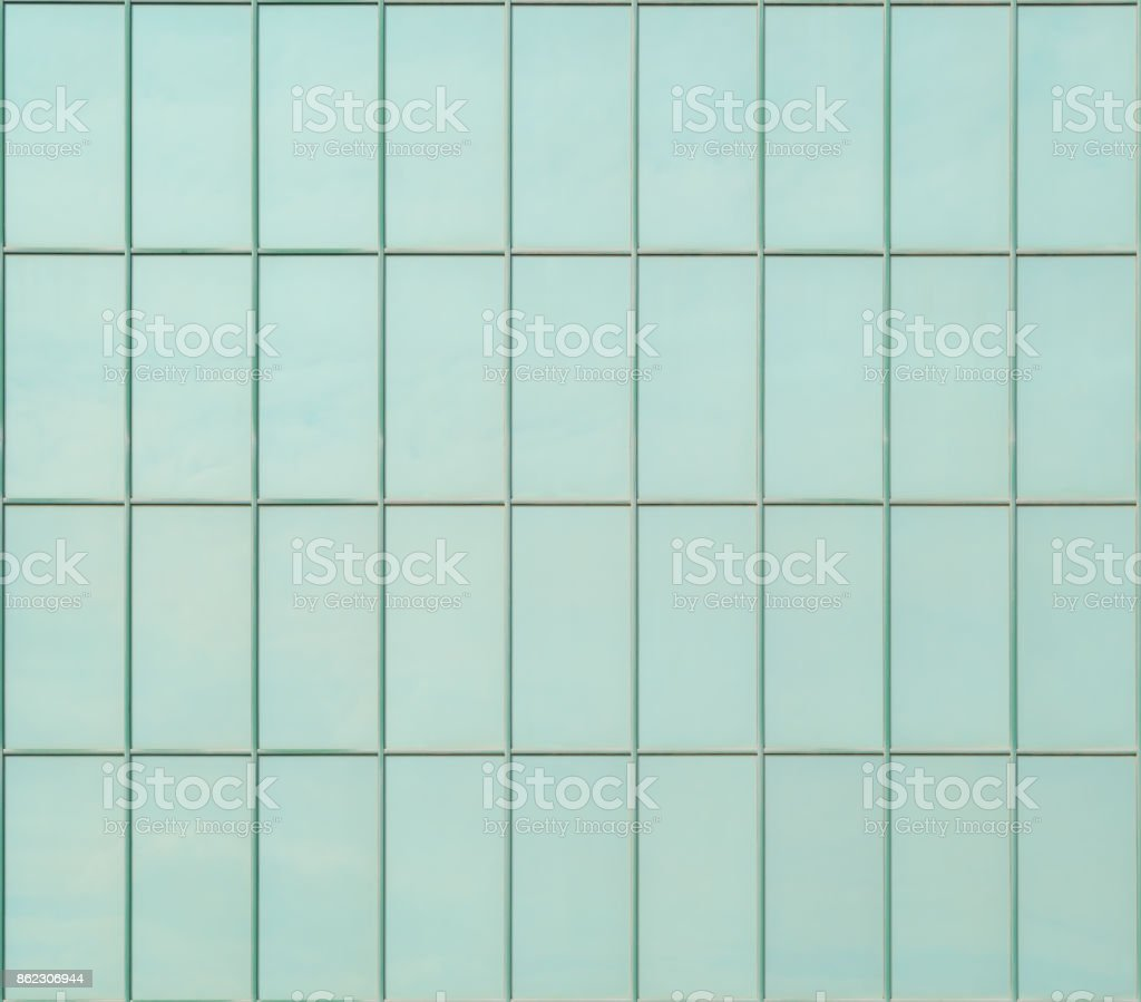 Turquoise Tiles For Exterior Wall Lining As Background Or Texture ...