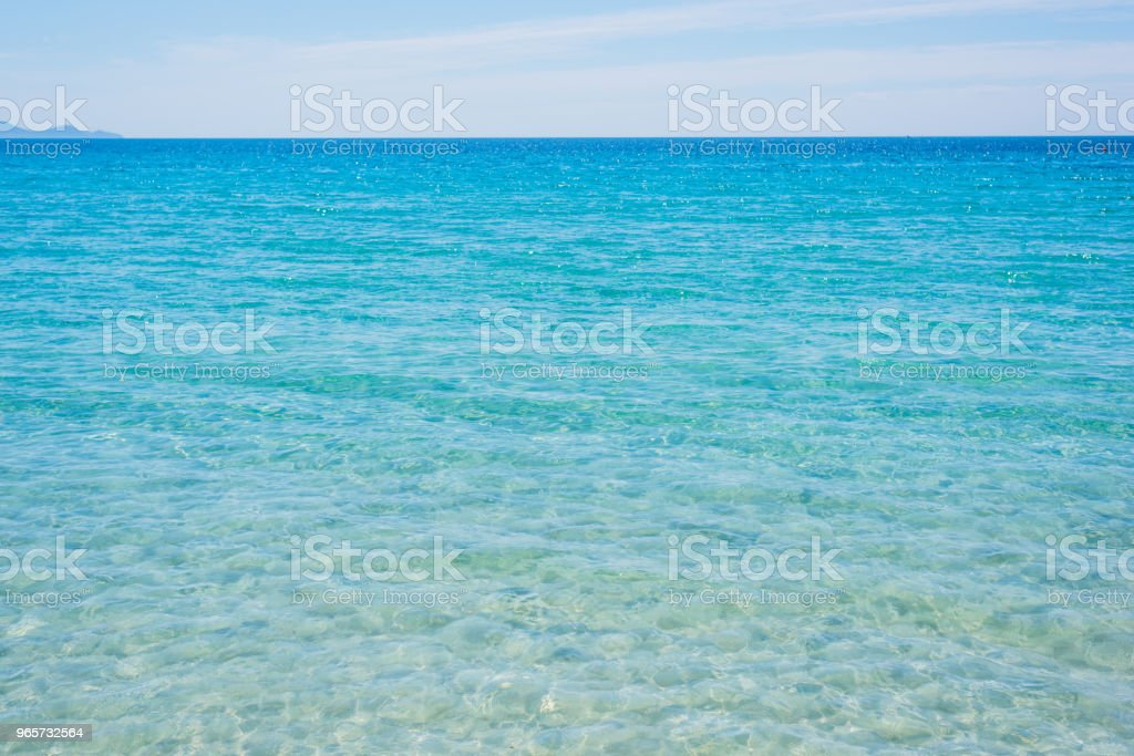 Turquoise water in Le Bombarde strand in Alghero - Royalty-free Alghero Stockfoto