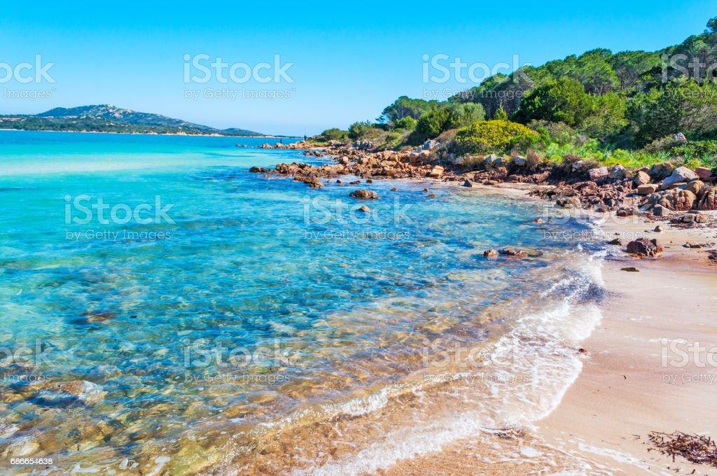 Turquoise water in Lu Impostu beach royalty-free stock photo