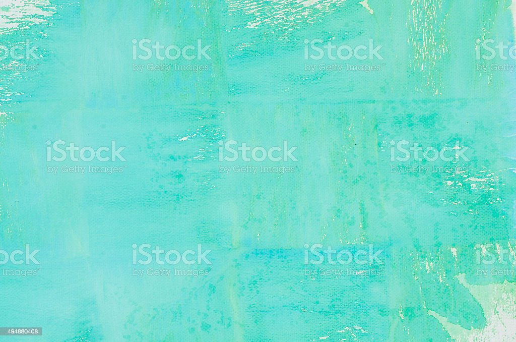turquoise watercolor background texture stock photo