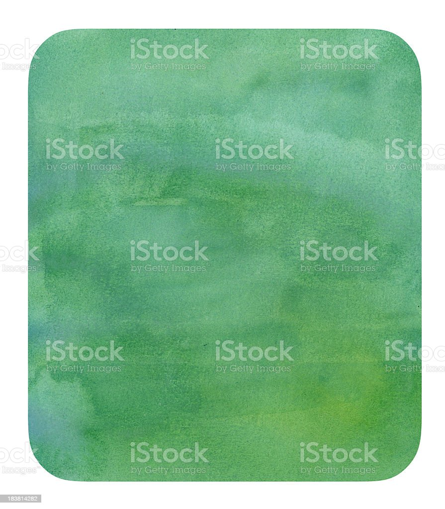 Turquoise Watercolor Badge stock photo