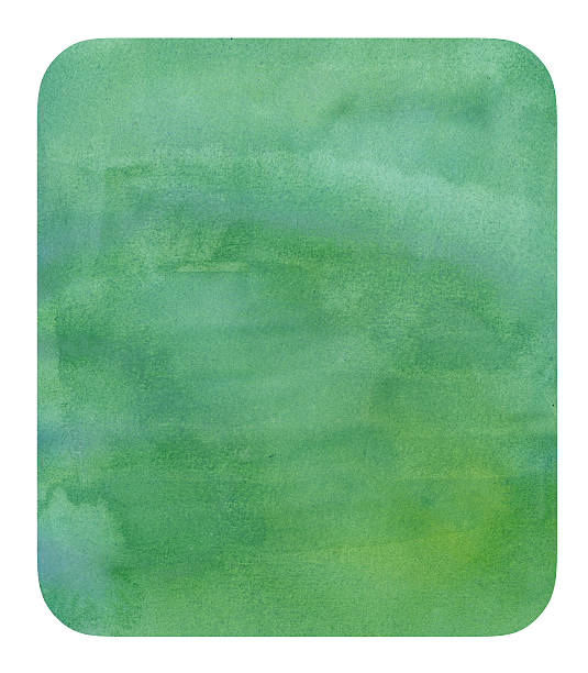 Turquoise Watercolor Badge stock photo
