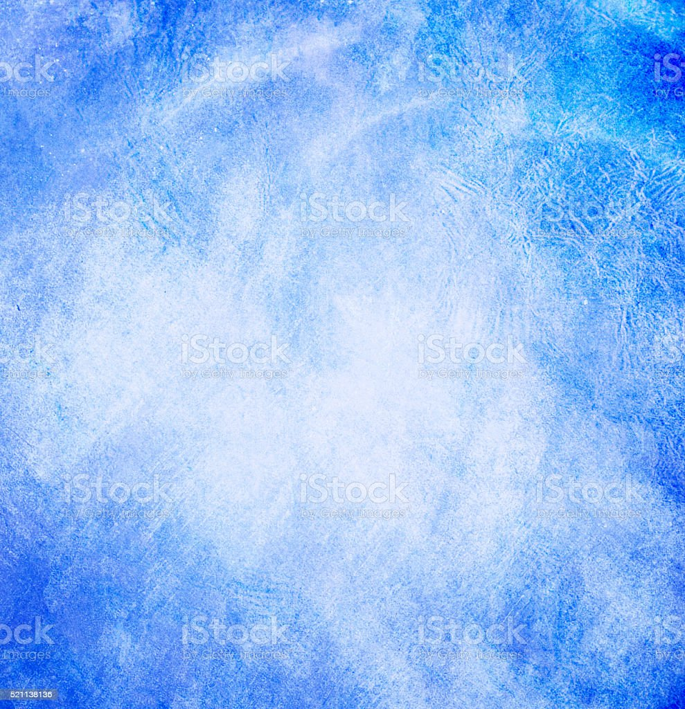 turquoise watercolor painted on paper background texture stock photo