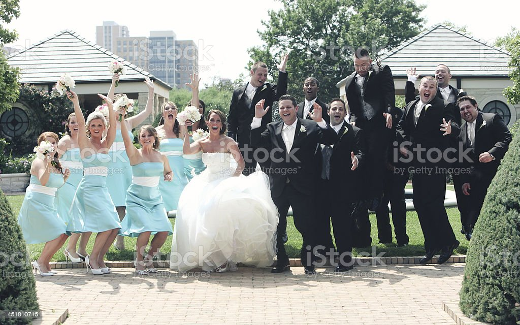 Turquoise Wedding Portraits stock photo