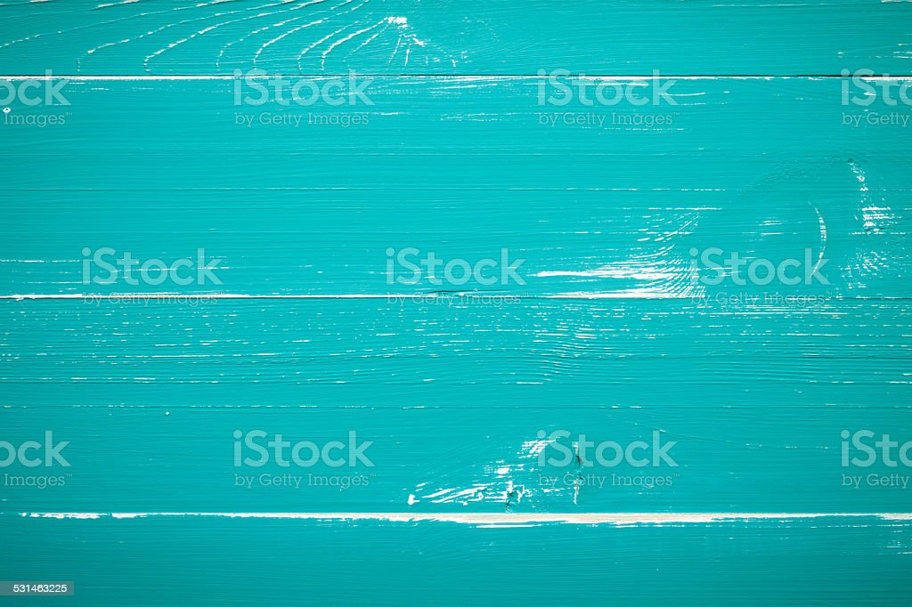 Turquoise Wood background stock photo
