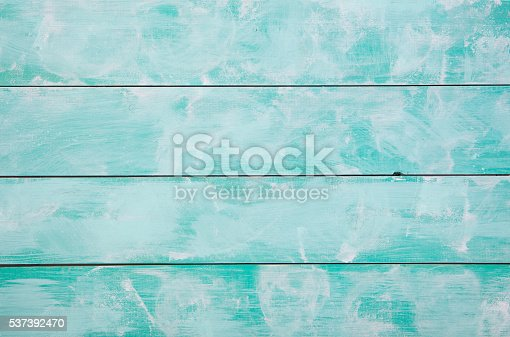 istock Turquoise wooden background with high resolution. Top view Copy space. 537392470