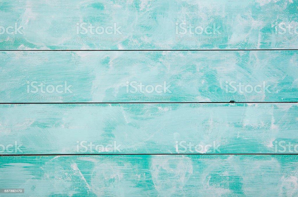 Fondo de madera con turquesa de alta resolución. Vista superior espacio de la copia. - foto de stock