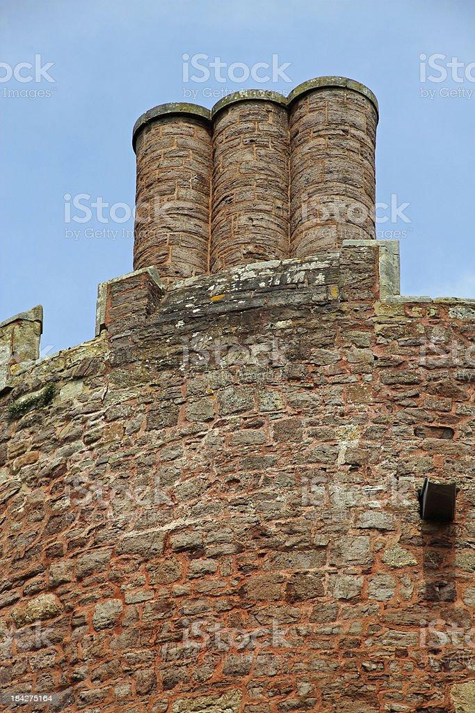 Turret and Chimneys stock photo