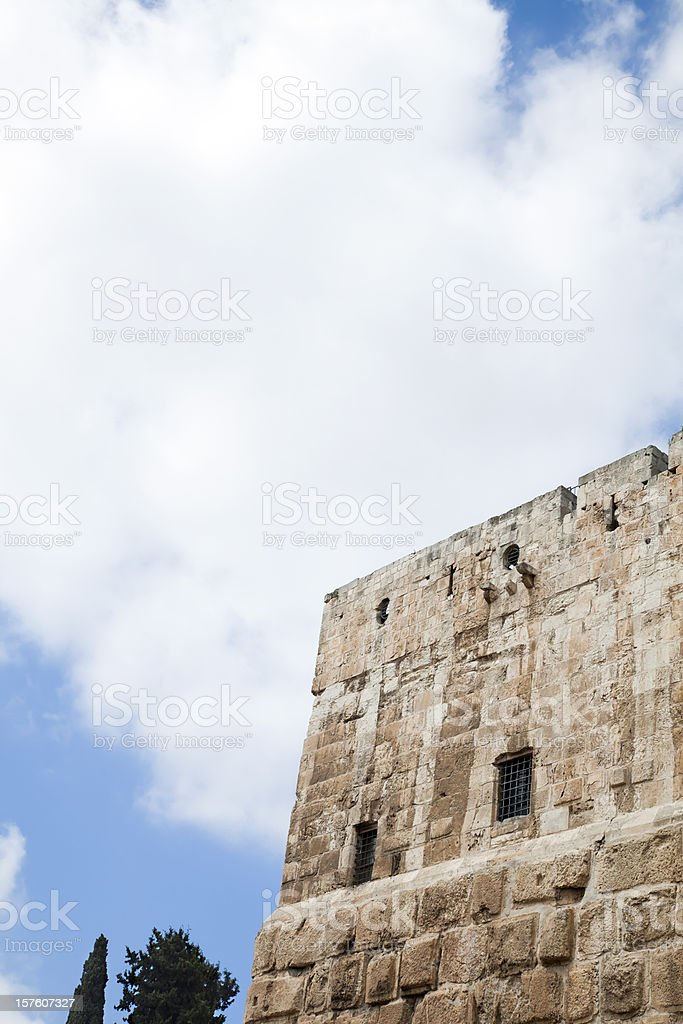 Turret and Cloudy Sky royalty-free stock photo