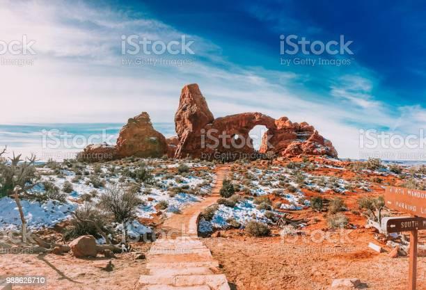 Torentje Boog In Het Arches National Park Utah Stockfoto en meer beelden van Avontuur