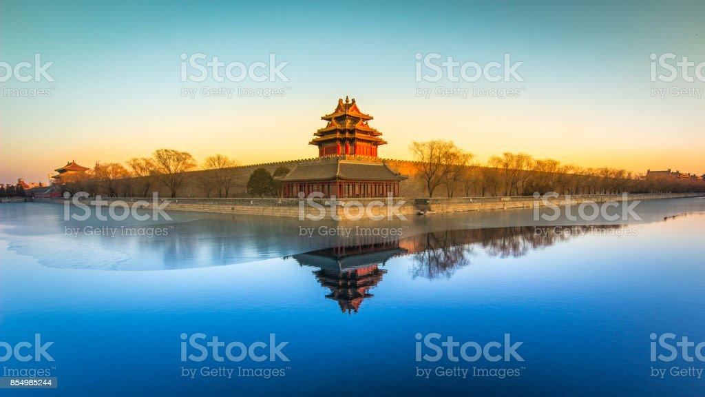 Turret of Forbidden City stock photo