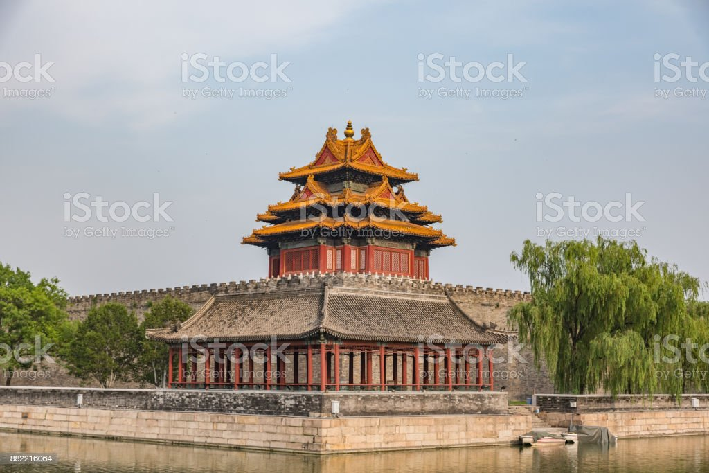 Turret Of Palace Museum Forbidden City Beijing China Royalty Free Stock Photo