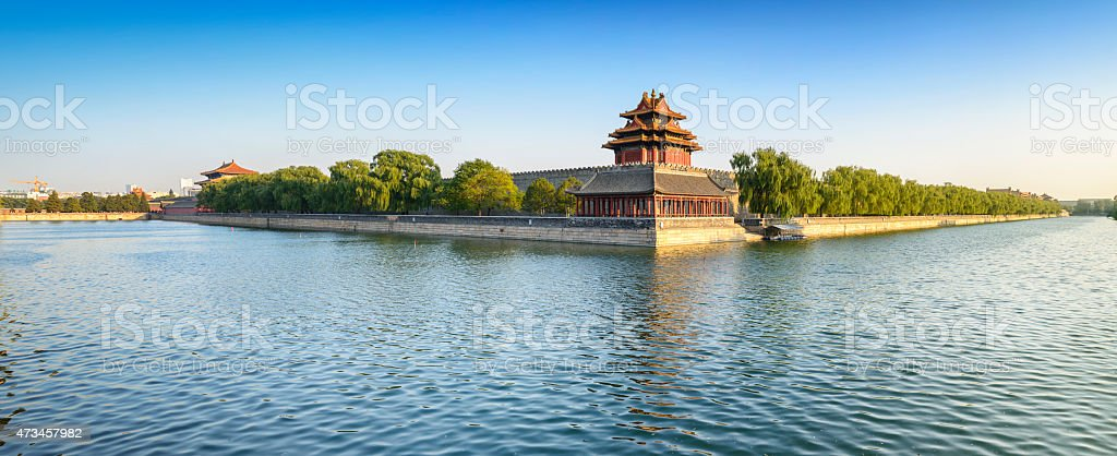 Turret of Palace Museum stock photo