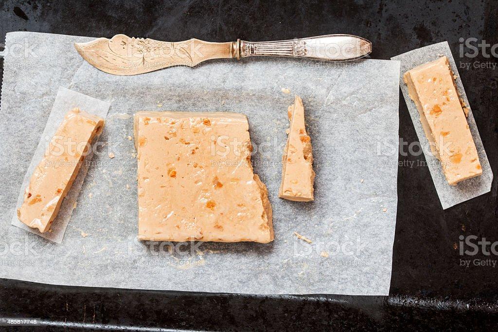 Turron, typical Spanish Christmas dessert for Christmas stock photo