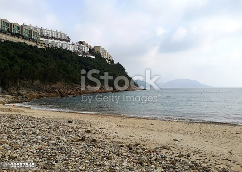 Turtle cove beach, situated east of Stanley and west of Tai Tam Reservoir, Hong Kong island.