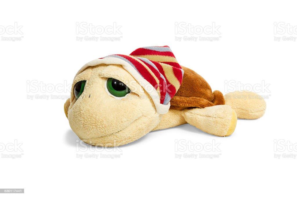 Turtle plush toy stock photo
