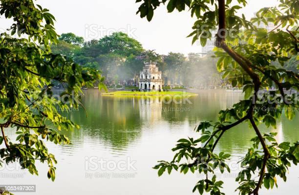 Turtle tower in hanoi hoan kiem lake in vietnam picture id1053497302?b=1&k=6&m=1053497302&s=612x612&h=dvj3pecos byadttjyxszpg7aqweglfgoq7gfwcpgzm=