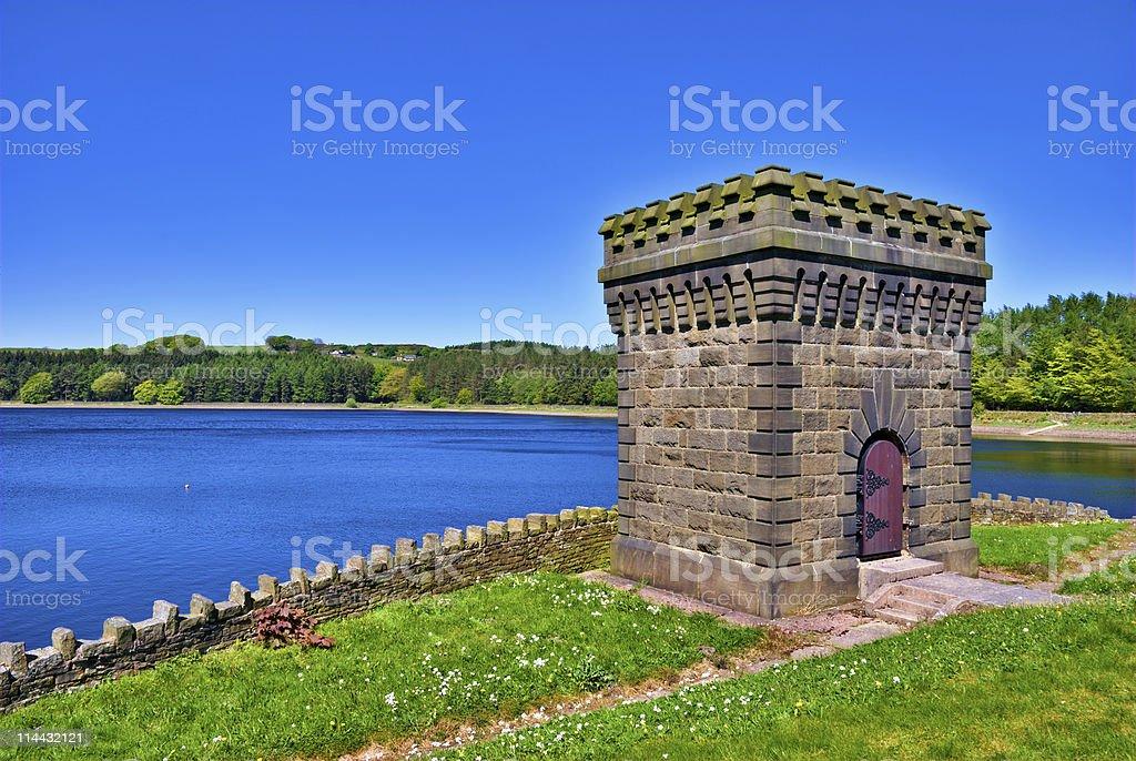 Turton Reservoir Tower stock photo