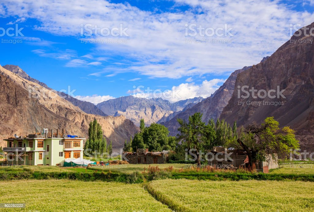 Turtuk village, Diskit, Jammu and Kashmir, India stock photo