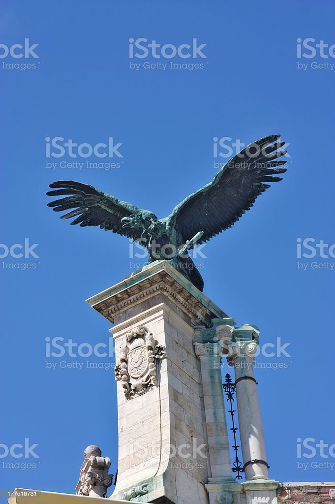 Turul statue in Budapest royalty-free stock photo