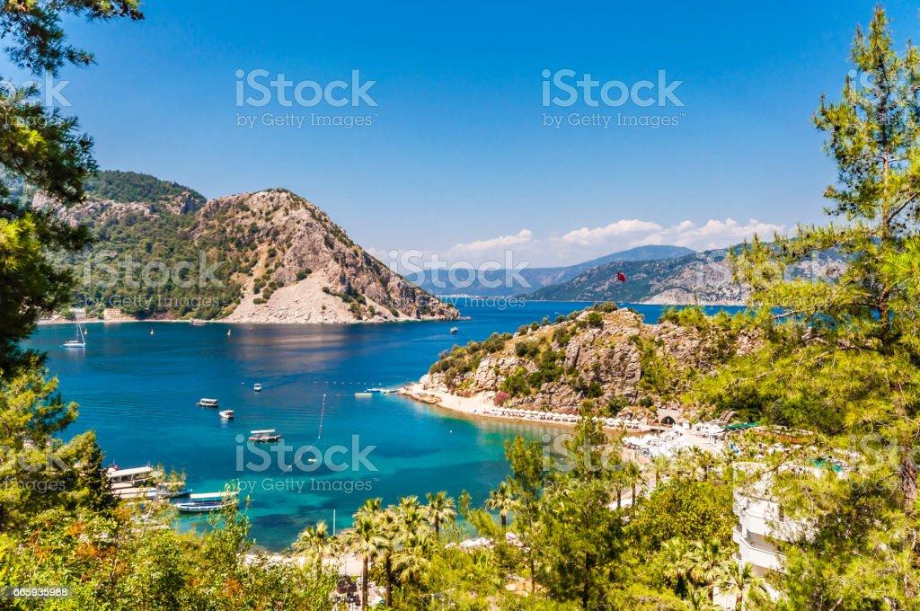 Turunc Bays in Marmaris stock photo
