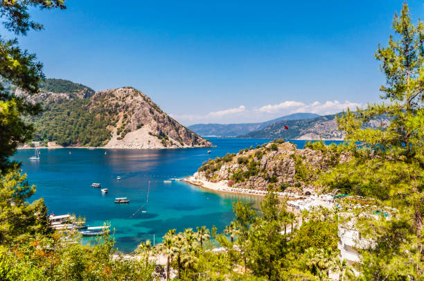 Turunc Bays in Marmaris stock photo