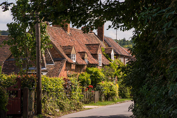 Turville cottages A row of cottages in the village of Turville, Buckinghamshire buckinghamshire stock pictures, royalty-free photos & images