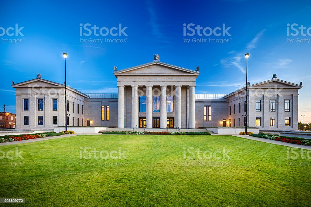 Tuscaloosa, Alabama Federal Building And Courthouse stock photo