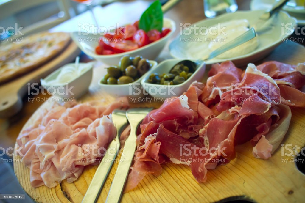Tuscan antipasto stock photo