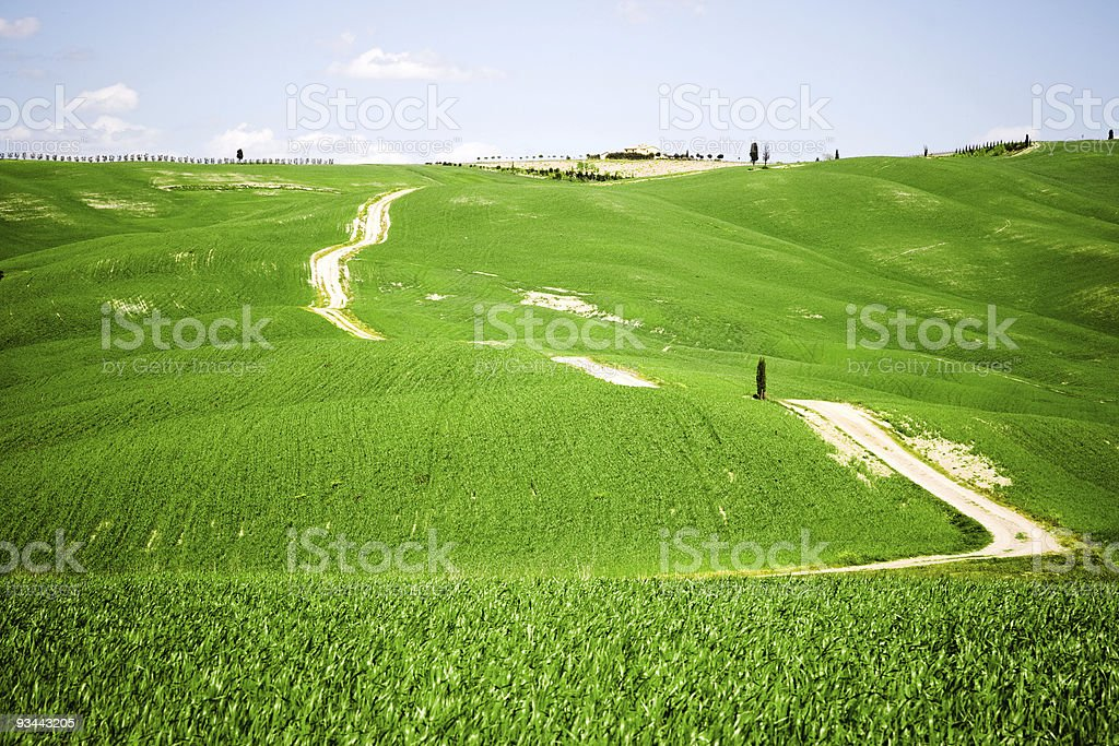 Die ländliche Toskana Lizenzfreies stock-foto