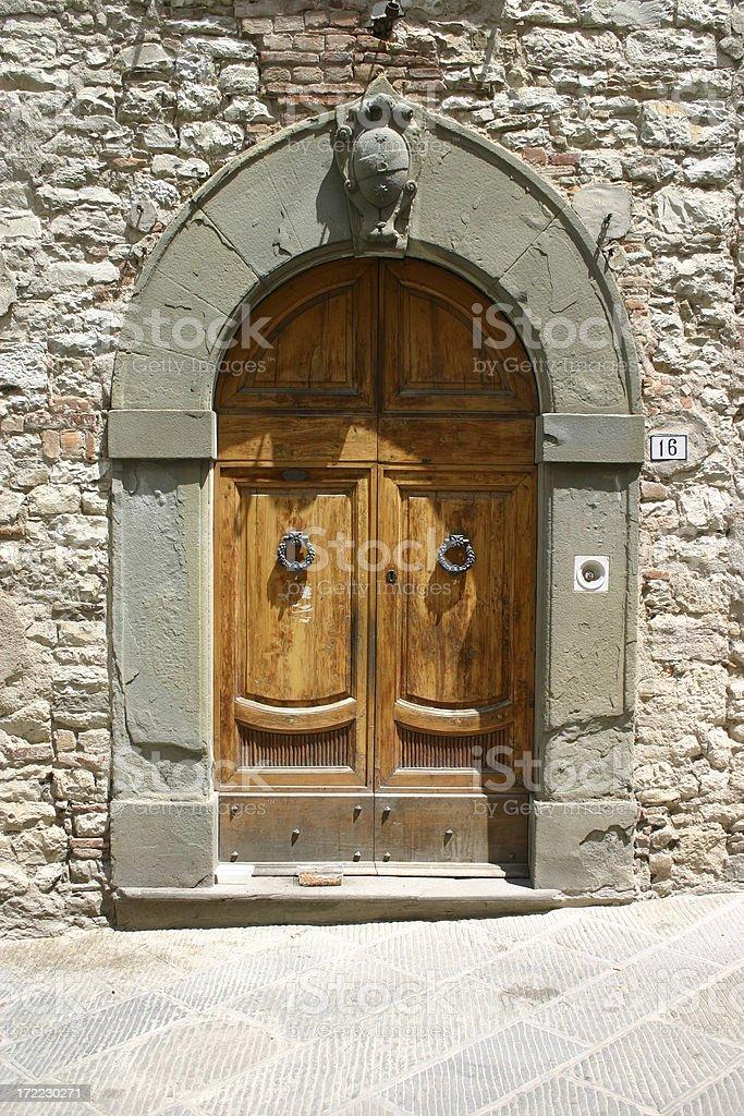 Tuscan Doorway III royalty-free stock photo