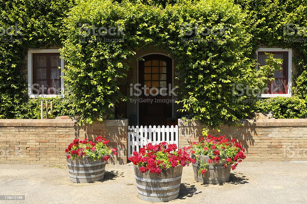 Tuscan Farmhouse in the Country stock photo