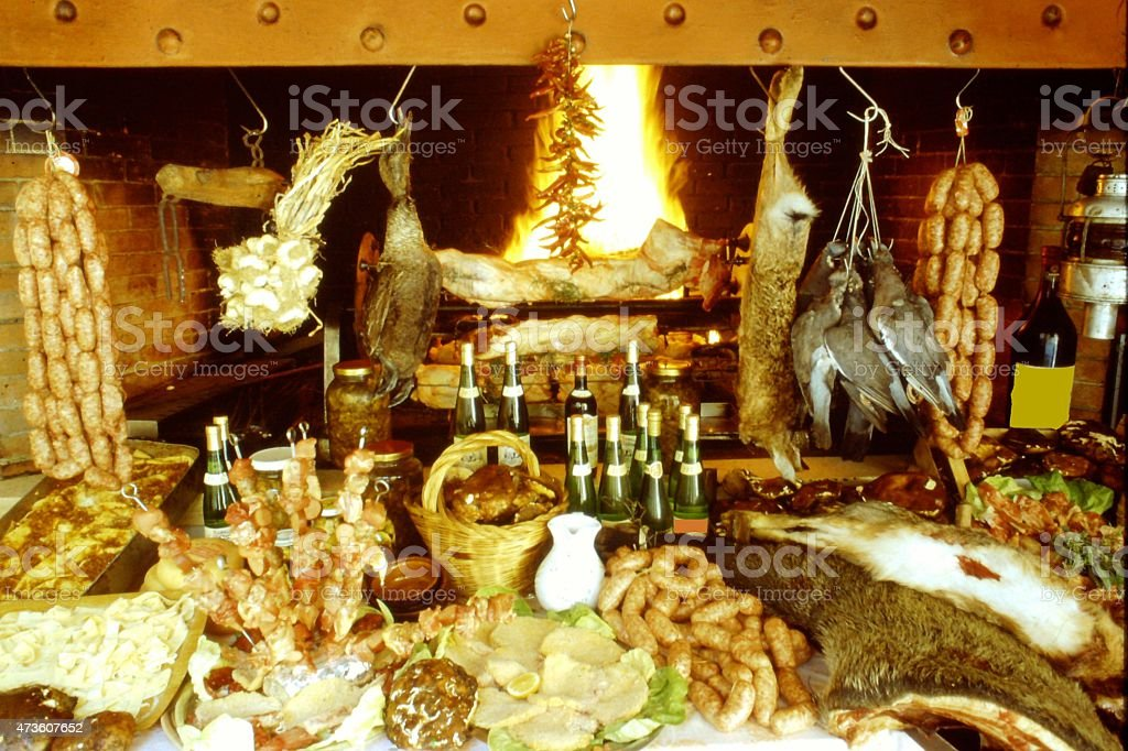 Tuscan food, Italian cooking, country cooking, stock photo
