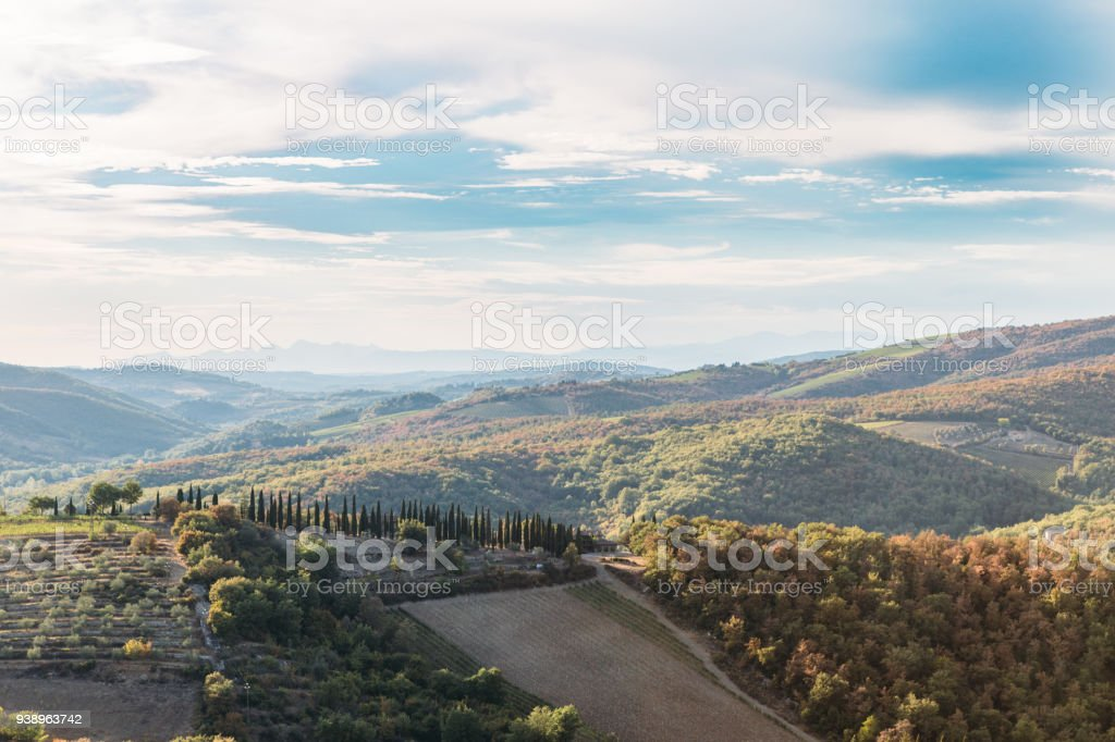 Tuscan Hill stock photo