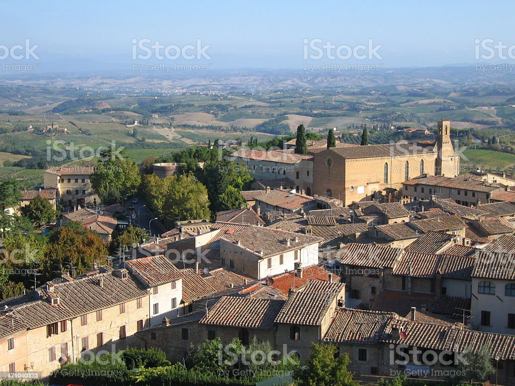 Tuscan hill town of San Gimignano royalty-free stock photo