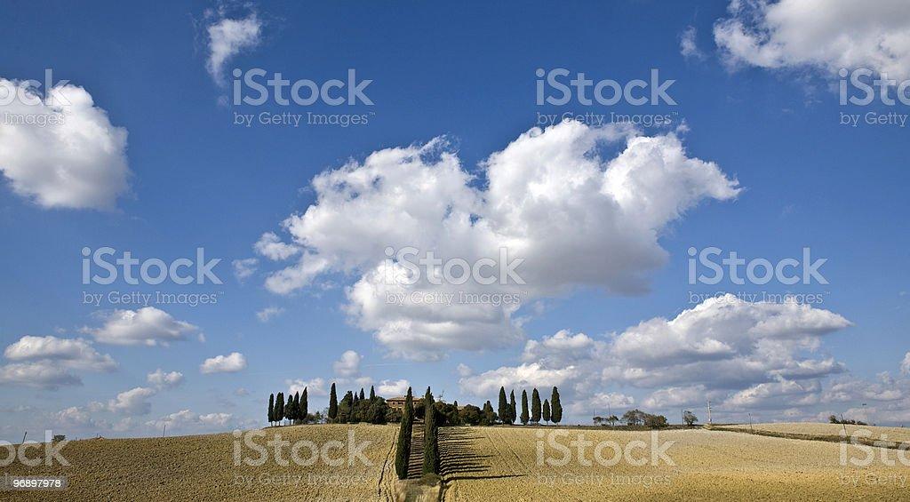 tuscan landscape royalty-free stock photo